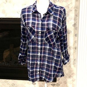 SANCTUARY boyfriend button down shirt, (L)